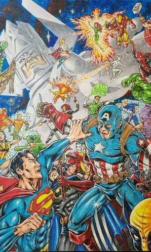 22x30 Marvel vs DC portrait