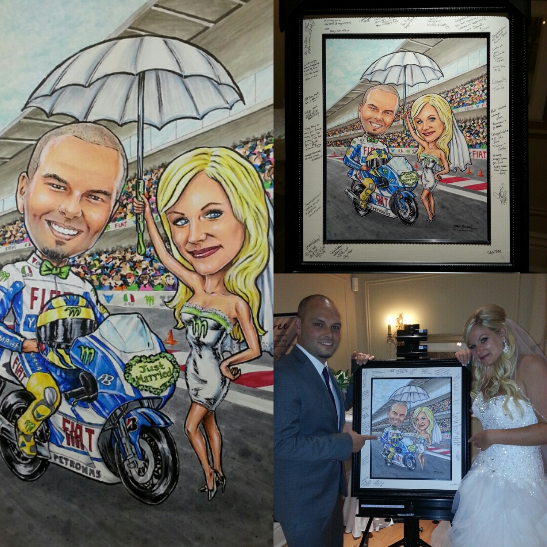 Framed portrait for guests to sign