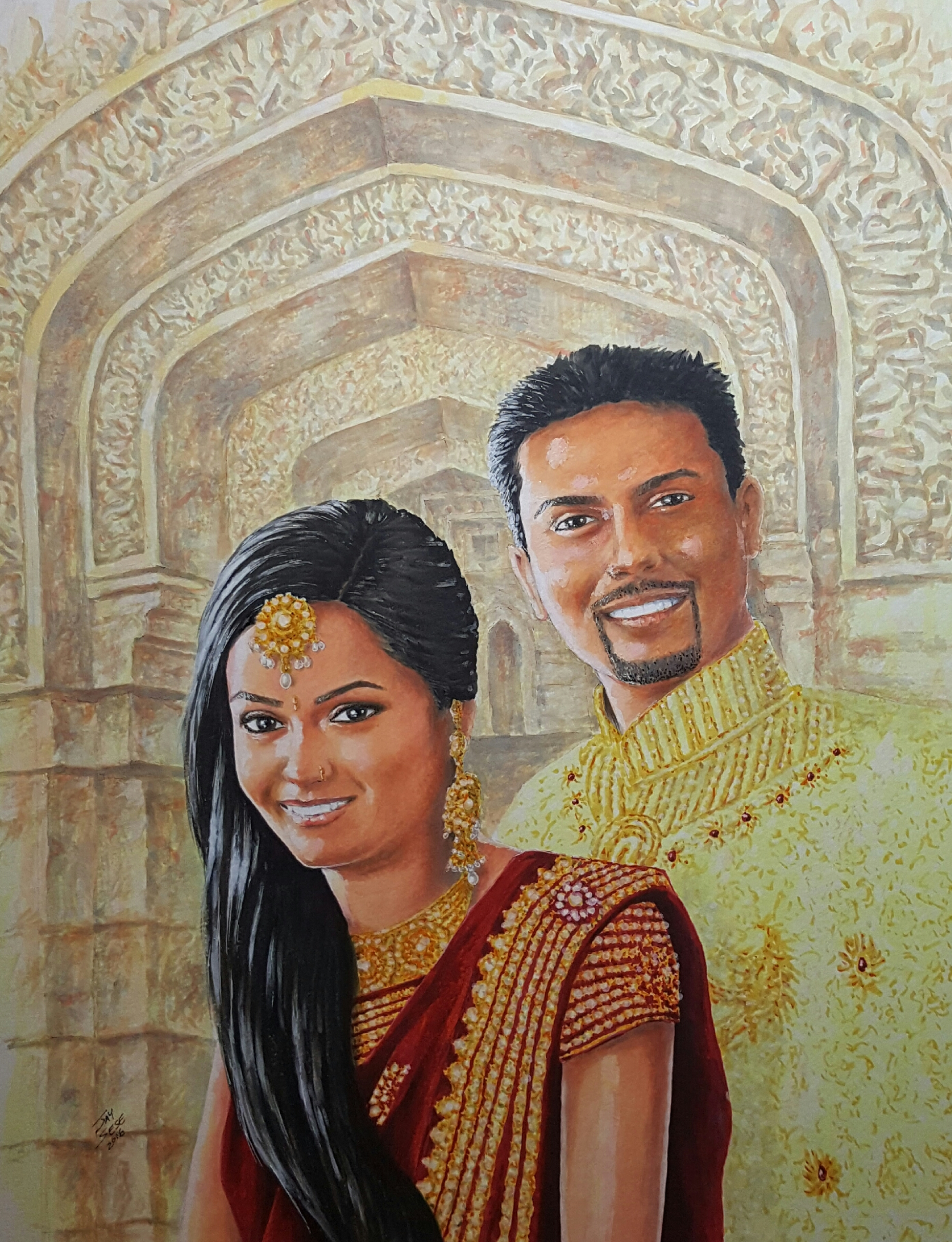 Ken's Indian Wedding Portrait