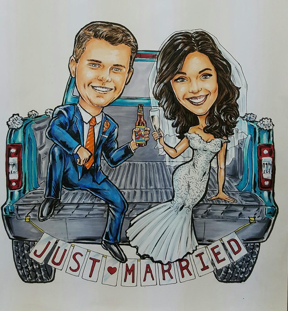 Andrea & Joshua portrait logo